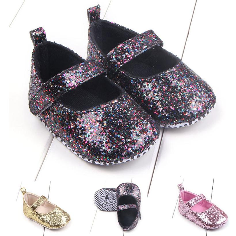 TELOTUNY 2018 Toddler Girl Soft Sole Crib Shoes Sequins Sneaker Baby Shoes For Girls Boys Shoes 0425