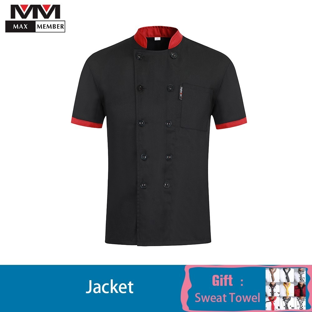 Chef Uniform Wholesale Summer Cook Profesional Shirt Jacket Patchwork Canteen Kitchen Hotel Coffee Cake Shop Work Overalls