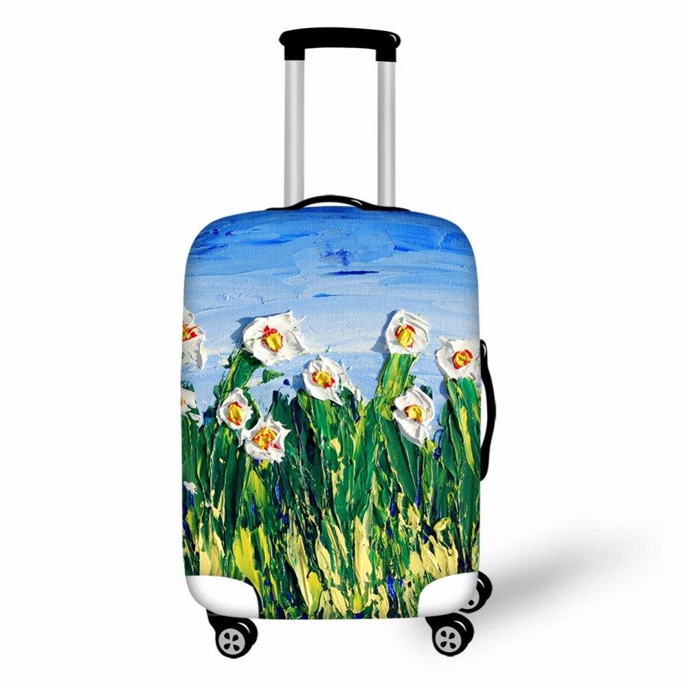 Foru Дизайн S Цветок Дизайн защитный Чемодан крышка Чемоданы сумка Пыль Покрывает чемодан Крышка стрейч Туристические товары поставки