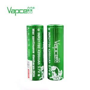 Image 4 - Frete grátis 2pcs Vapcell 21700 bateria 4200mah 30A molicel P42A bateria bateria recarregável para o Cigarro Eletrônico