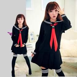 JK японская школьная униформа моряка модная школьная класса матрос школьная форма для Косплэй костюм для девочек 3 шт./компл