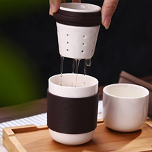 Ceramic Portable Travel Kungfu Tea Set