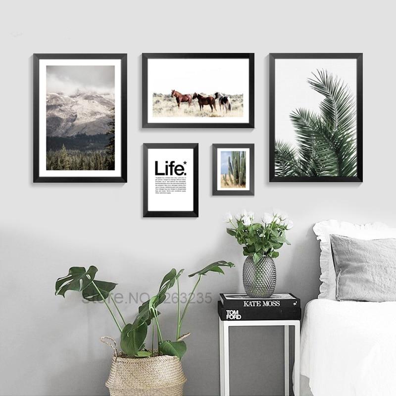 Cactus Desert Scenery Nordic Poster Plantas Carteles e impresiones - Decoración del hogar - foto 2