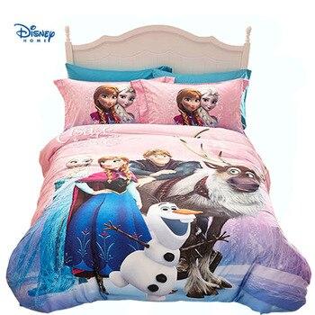 pink elsa anna print duvet cover single twin queen size disney cartoon girl bedding comforter sets child pillow case 100% cotton
