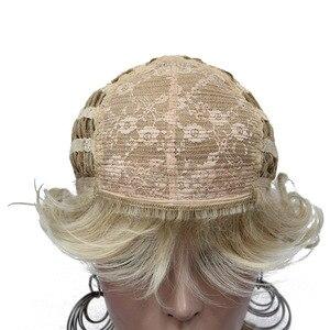 Image 5 - StrongBeauty วิกผมสังเคราะห์สั้น Curly ผมสีบลอนด์/Auburn วิกผมผู้หญิง