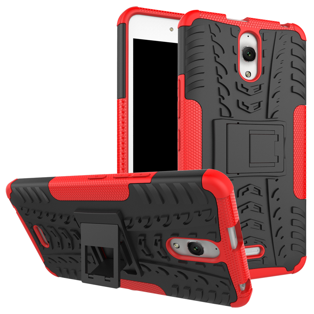 Alcatel Pixi 4 (6) 3G 8050D Case TPU & PC կրկնակի զենք ու զրահ ծածկով ամուր սիլիկոնային ծածկով Pixi4 OT-8050D OT8050 6.0 դյույմ