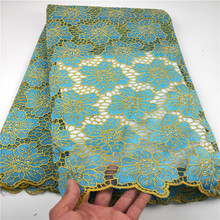 New Designs African French Lace Fabric High Quality Nigeria african French Net Lace 2019 With Stone and Beaded For Women CHYF19