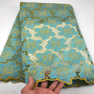 Image 1 - New Designs African French Lace Fabric High Quality Nigeria african French Net Lace 2019 With Stone and Beaded For Women CHYF19