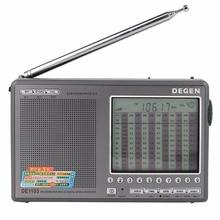 Degen DE1103 Radio FM AM Portable DSP Stereo Digital World Band Receiver SSB Clock Timer Recorder External Antenna Y4162H