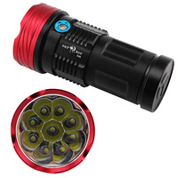 Anjoet King Tactical light High Power 9 x CREE XM L T6 LED flashlamp Waterproof Aluminum Torch Lamp Light For Hunting Camping