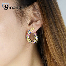 5Pairs,The Rainbow Series,The Pear Shape Women Fashion Earring .Gold Colors, Can Wholesale