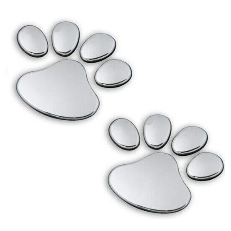 US $0 61 26% OFF|1 pair wholesale pegatinas pet Animal Paw Footprints  Emblem Car Truck Decor 3D wall stickers home decor for kids #TX-in Wall  Stickers