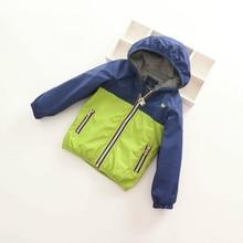 Nouveaux enfants couleur manteau à capuchon zipper coupe-vent mode casual veste offre spéciale livraison gratuite