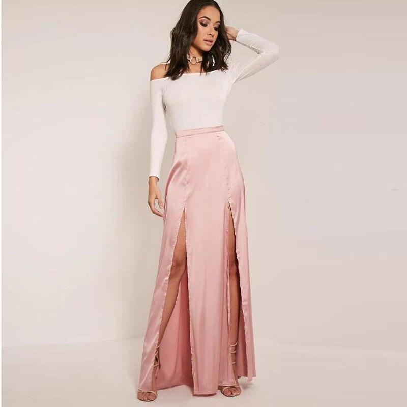 Длинная юбка с двумя разрезами