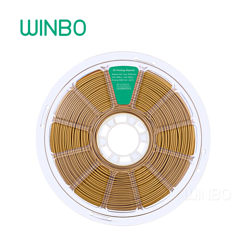 3D Printer PLA filament 3mm 3kg Golden Winbo 3D plastic filament Eco-friendly Food grade 3D printing material Free Shipping 3d printer pla filament 3mm 3kg yellow winbo 3d plastic filament eco friendly food grade 3d printing material free shipping