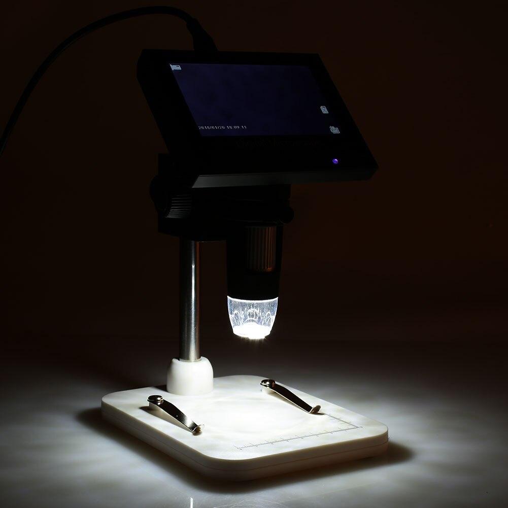 Электронный микроскоп Прочный водонепроницаемый 4,3 дюймовый дисплей фотографии 8LED DM3 видео экран в реальном времени микроскоп мониторинг