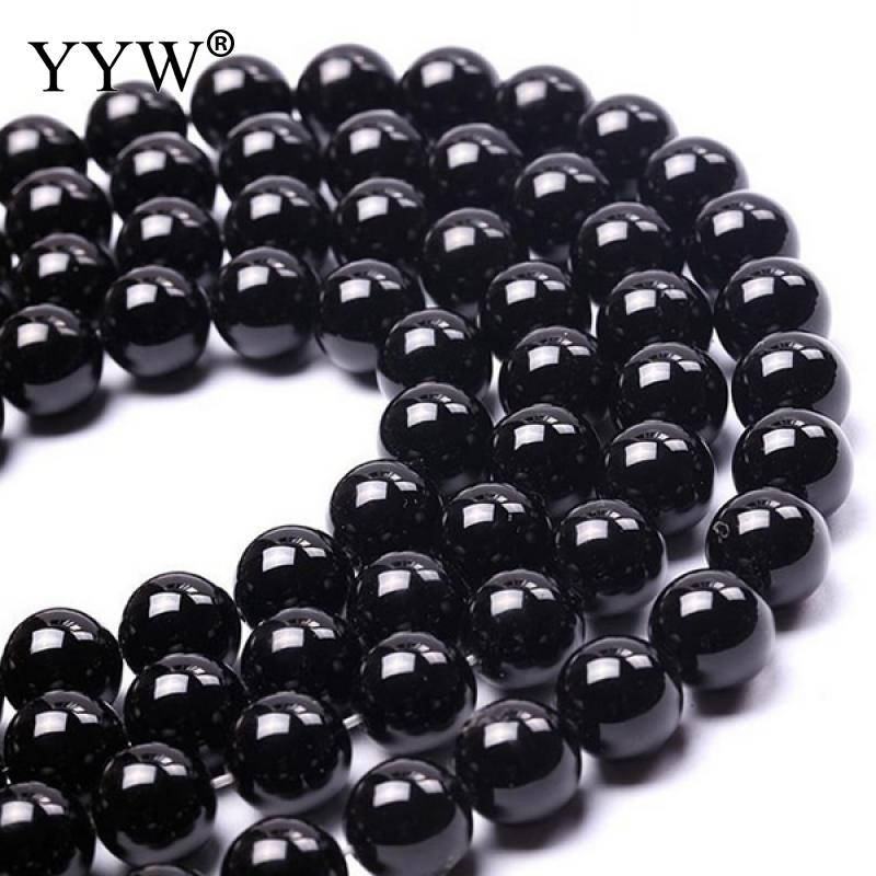 High Quality Grade AAAAAA Natural Stone Black Agates Beads Round Loose Beads Onyx DIY Jewelry Making Bracelet 4 6 8 10 12 14 mm ...
