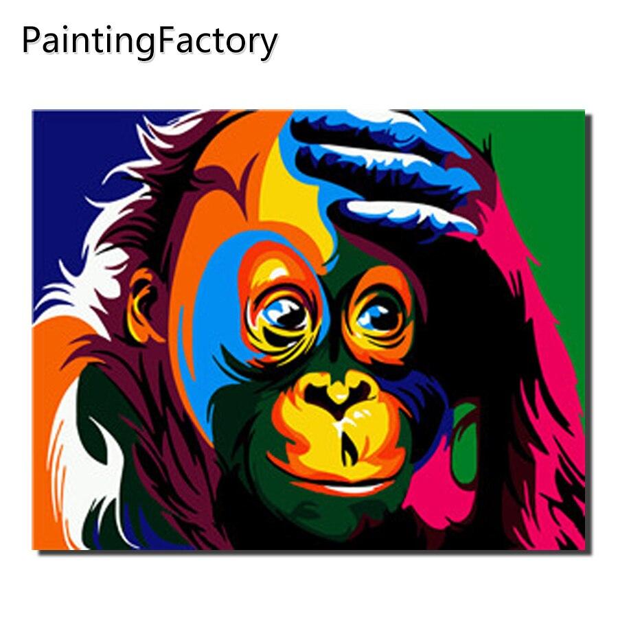 Minyak Lukisan Mewarnai Gambar Dengan Angka DIY Buatan