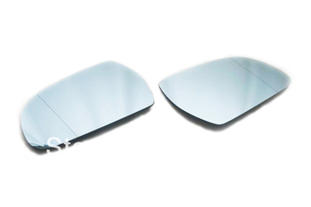 Facelifted Blue Tinted Aspherical Side Mirror Set For Audi A3 8P