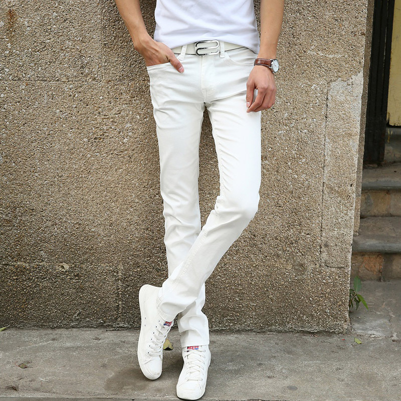 237c60539c2a New Spring Autumn Men s Long Elastic Skinny Jeans Men High Quality  Flexiable Trousers Man Pencil Pants Size 38 36 Jeans men 50of-in Jeans from  Men s ...