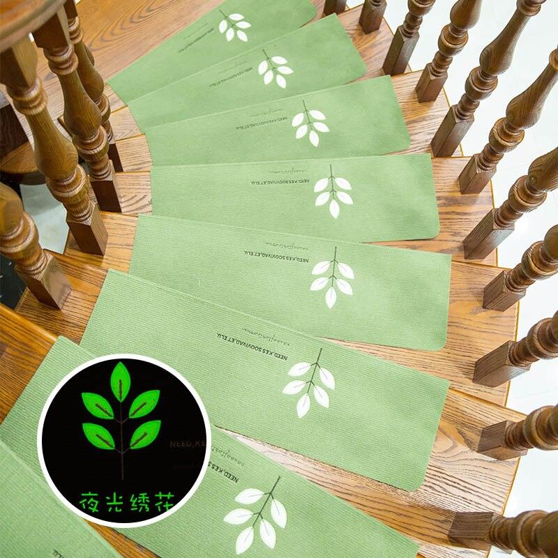 TIMO Stair Carpet Step Pad Bape Mat Warm Anti-slip Glue Area Rug Luminous Clover Carpet For Living Room Alfombras Tapis