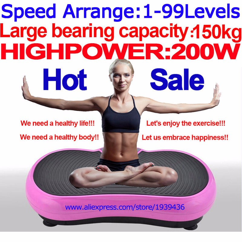 Adomaner Massage Vibration Exercise Machine Vibrating Plate Vibrator of  Weight Loss Mini Power Fit Mat Slimming Fitness Device