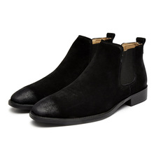 New Fashion Casual Oxford Style Men Chelsea Boots winter Autumn Winter Fashion Ankle Boots male cow suede Formal Dress Shoes