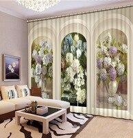 Noenname_null элегантный цветочный узор плотные 3D Шторы для Спальня Гостиная Шторы принять настройки любой размер cl 005