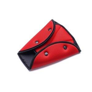 Image 3 - Triângulo de Segurança Do Carro Cinto De Segurança Cinto de segurança Ajustável Resistente Durável Clips Almofada de Proteção À Criança Do Bebê Car Styling Carro Interiores