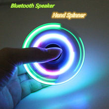 2017 Pudcoco LED Bluetooth Hand Spinning Relieve Stress Speaker Hand Spinner Fidget Finger Gyro EDC ADHD Autism Toy For kids 12