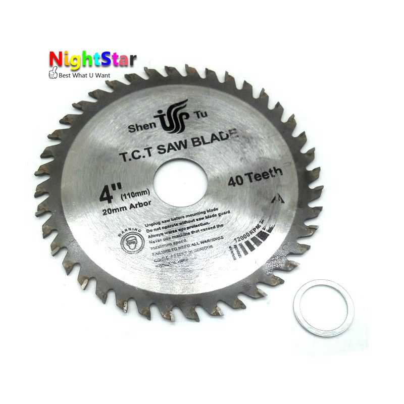 4 Inch Circular Saw Blades Tungsten Steel Alloy Saw Blades for Wood Aluminum Cutting 110mm TCT Saw Blades /40Teeth /30Teeth promotion sale high quality 500 4 0 30 120z tct saw blades with oke carbide tipped saw blades for hard wood timber log cutting