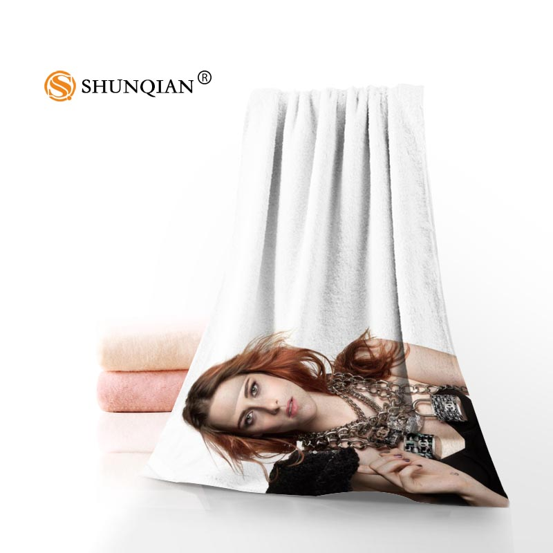 New Custom Kristen Stewart Towel Printed Cotton Face/Bath Towels Microfiber Fabric For Kids Men Women Shower Towels ...