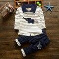 2016 новых Мальчиков комплект одежды детей спортивный костюм дети спортивный костюм мальчиков длинные рубашки + брюки gogging толстовка повседневная одежда
