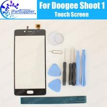 Doogee atirar 1 painel da tela de toque 100% garantia original substituição vidro da tela toque para doogee tiro 1 + presentes
