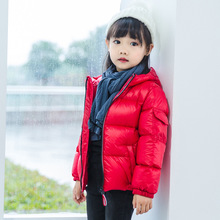 Children's Winter Jacket for Kids Girls Silver Boy Casual Hooded Jacket Baby Clothing   Jacket Kids Jacket Snowsuit basik kids hooded jacket short