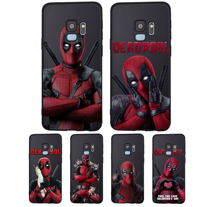 Marvel Deadpool For <font><b>Samsung</b></font> Galaxy S6 <font><b>S7</b></font> Edge S8 S9 S10 S10e Plus Lite Note 8 9 A20 A30 A40 A50 A70 <font><b>phone</b></font> <font><b>Case</b></font> Cover Coque Etui image