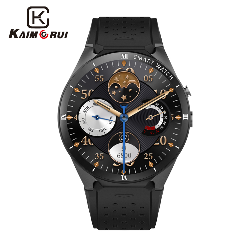 Kaimorui montre intelligente KW88 Pro Android 7.0 Bluetooth Smartwatch MTK6580 3G carte SIM GPS WiFi 1 GB + 16 GB Android montre téléphone intelligent