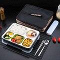 Ланч-бокс ONEUP с раздельными отделениями  герметичный  не смешанный  термо-бокс Bento с столовыми приборами  экологически чистый контейнер для е...