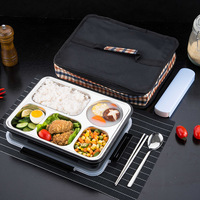 ONEUP Lunch Box Thermal Bento Box with Tableware Eco Friendly Food Container Separate Compartments Leakproof Food is not mixed