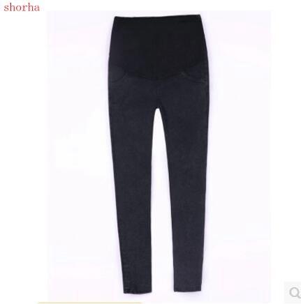 Inverno Abbigliamento Jeans Di Maternità Pantaloni Per Le Donne Incinte Vestiti Di Cura Infermieristica Pantaloni Gravidanza Camici Del Denim Lungo Prop