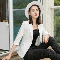 2019 Ladies Work Wear Office Lady Uniform Style Business Jacket Women Formal Blazers Short Jackets Slim Blazers Women Suit S 4XL