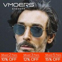 VMOERS Luxury Brand Sunglasses Men Vintage Small Shades Male