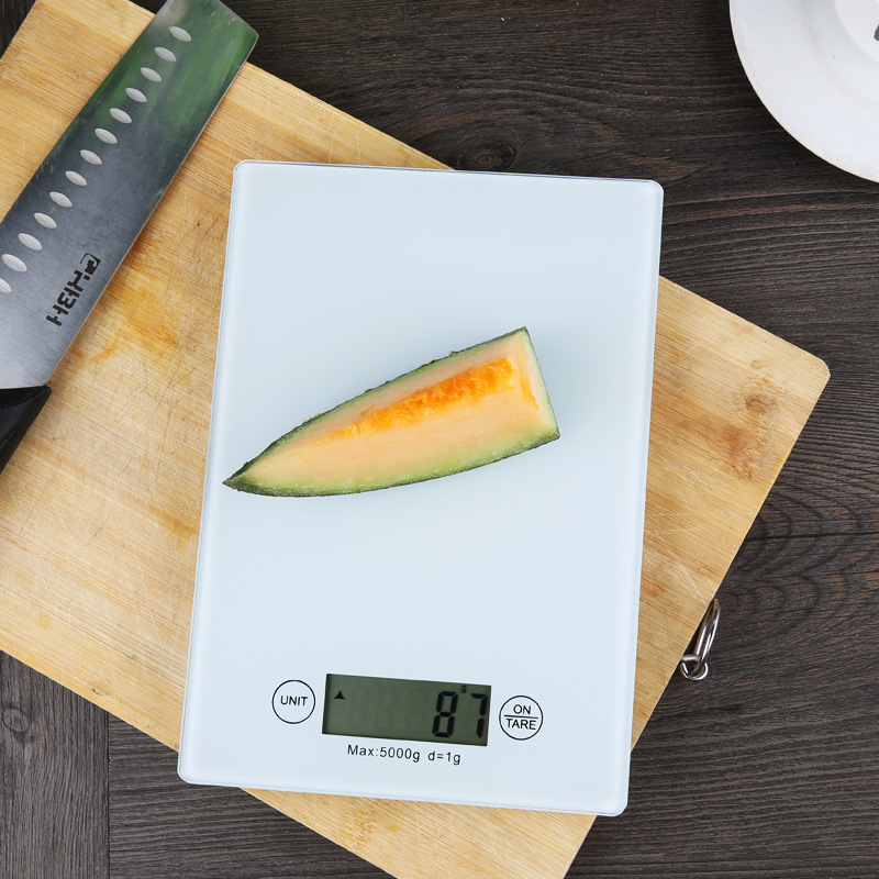 1 Piece FOURETAW Candy Colour Red Black White High-precision 5Kg x 1g Weight Digital Multi-function Ultrathin Food Kitchen Scale