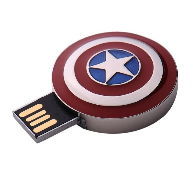 651337edc2d Super hero captain america shield comic story fashion cool hero 4gb 8gb  16gb 32gb 64gb pendrive 16GB pen drive usb flash drive