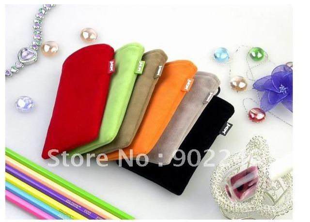 pouch for iPhone 5 4 4G 4S Free Shipping 100pcs/lot protection bag Case pouch phone case orange,green,black,grey,brown,red