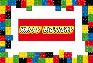 Image 2 - Sensfun 220x150cm In Vinile Colorato Lego Fotografia Sfondo Per I Bambini Buon Compleanno Sfondi Per Foto In Studio Personalizza