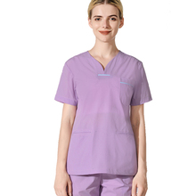 63c4038ac62 Women Summer 4 Ways Stretch Nurse Uniform Medical Workwear Scrub Sets Top  Pant Dentist Outfits Beauty
