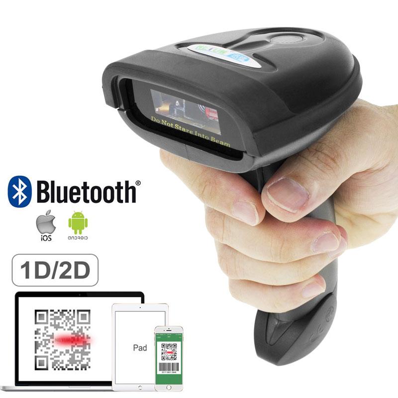 NETUM Bluetooth QR 2D Barcode Scanner Bar Code Reader for Mobile Screen Payment NT-1228BL nt 1228bl bluetooth qr 2d pdf417 barcode scanner and nt 1228bc wireless bluetooth ccd barcode reader for mobile screen payment