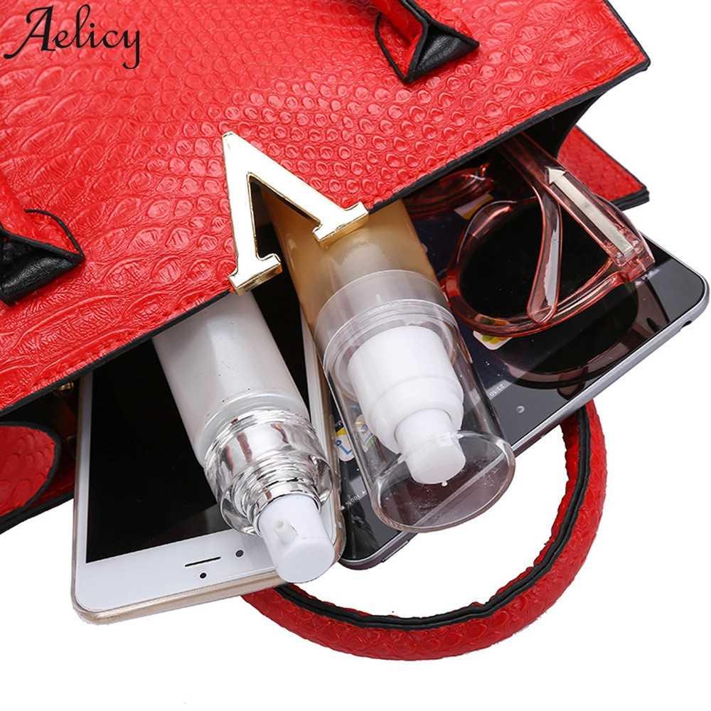 Aelicy 2019 ホットファッション女性アリゲーター柄ジッパー革クロスボディショルダーバッグ女性のメッセンジャーバッグハンドバッグ女性