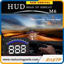 RASTP 3.5 дюймов Лобовое Стекло Проектор OBD2 EUOBD Head Up Display Вождение Автомобиля Отображения Данных Скорость ОБ/МИН M6 LS-HUD012